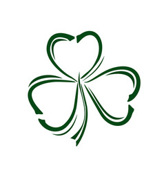 shamrock trifoliate clover doodle style icon vector image vector image