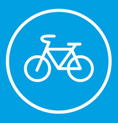 Sign bike icon white vector