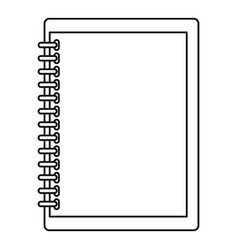 Sketchbook icon outline style vector