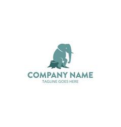 Unique elephant logo vector