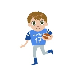 Young Football Player vector image
