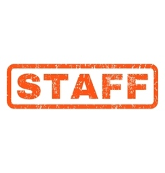 Staff rubber stamp vector