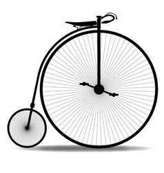 Penny Farthing Silhouette vector image