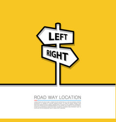 left and right arrow sign vector image