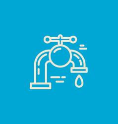 Isolated plumbing icon vector