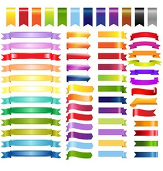 Big Color Web Ribbons And Arrows vector image