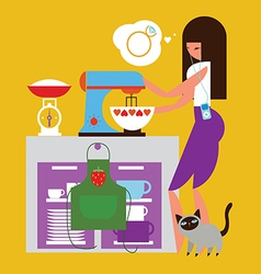 Home baking vector