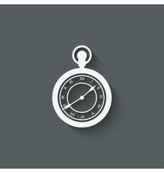 Pocket watch design element vector