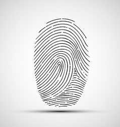 icon of human finger print vector image