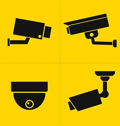 Cctv icons set vector