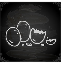 Hand drawn hatched egg vector