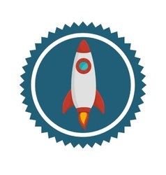 Rocket spaceship icon vector