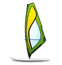 windsurfing board vector image