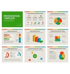 Presentation template infographic elements on vector