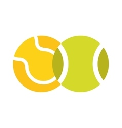 Tennis ball isolated sport equipment game circle vector
