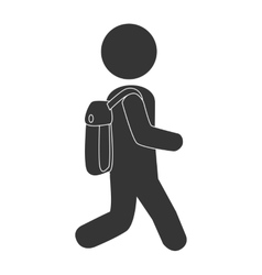School kid pictogram design vector