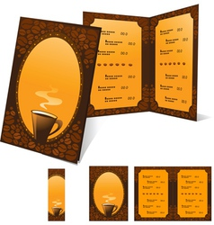 Menu and banner for cafe vector