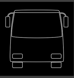 bus white color path icon vector image vector image