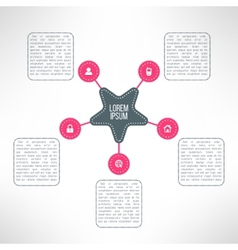 business process steps infographic elements vector image vector image