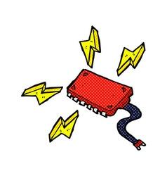 comic cartoon computer chip vector image vector image