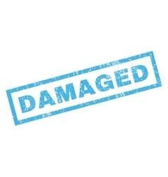 Damaged rubber stamp vector