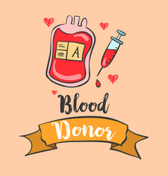 Design blood donor day collection vector