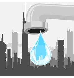 Drop of city vector