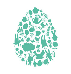easter egg icons collection for your design vector image vector image