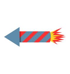 Fireworks rocket icon petard vector