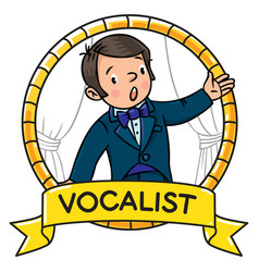 Funny singer or vocalist vector