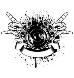 gesture rock vector image vector image