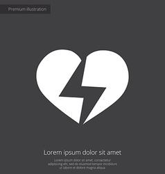 Heart lightning premium icon vector