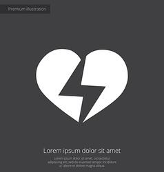 heart lightning premium icon vector image