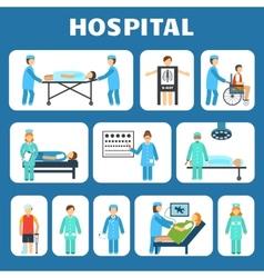 Medical flat pictograms set vector image