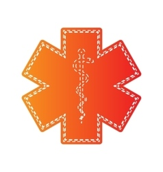 Medical symbol of the emergency star of life vector