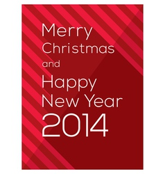 Merry Christmas and Happy New Year 2014 vector image