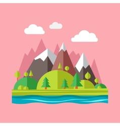 Modern flat design conceptual landscape vector image