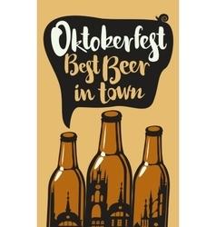 oktoberfest best beer vector image vector image