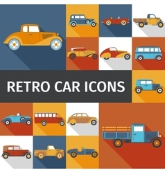 Old cars set vector