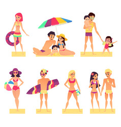 people on vacation flat style vector image