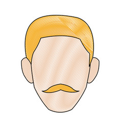Profile man male person head avatar vector