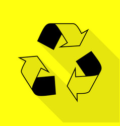 recycle logo concept black icon with flat style vector image vector image