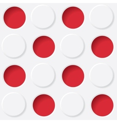 red and white circles vector image