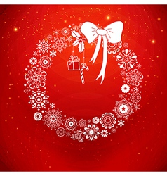 Stylized Christmas wreath from snowflakes vector image vector image
