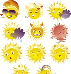 Sun smile stock vector