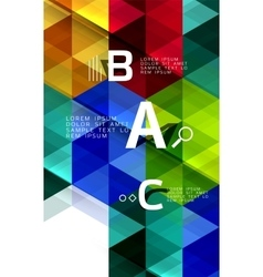 Triangle polygonal abstract background vector