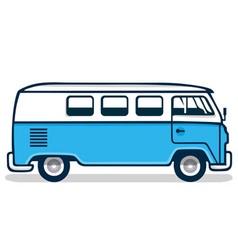 Vintage Blue Van vector image