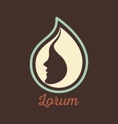 Woman face logo design template vector