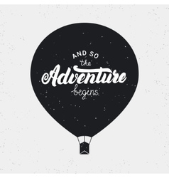 And so the adventure begins card hand written vector
