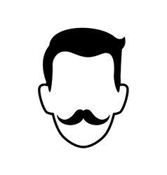 Man male avatar head person icon graphic vector
